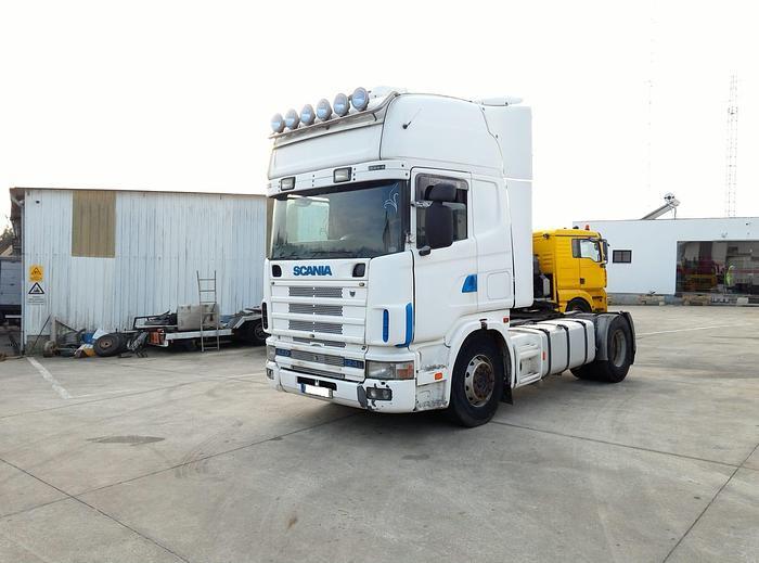 Used 1999 SCANIA R 124 L 420 manual retarder tractor unit