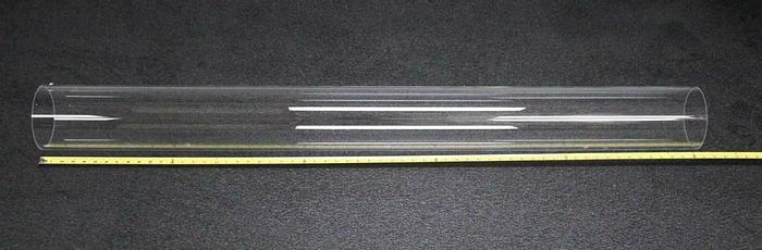 "Used National Scientific GE Fused Quartz Tubing 214LD Momentive 145X151 mm 60"" (6981"
