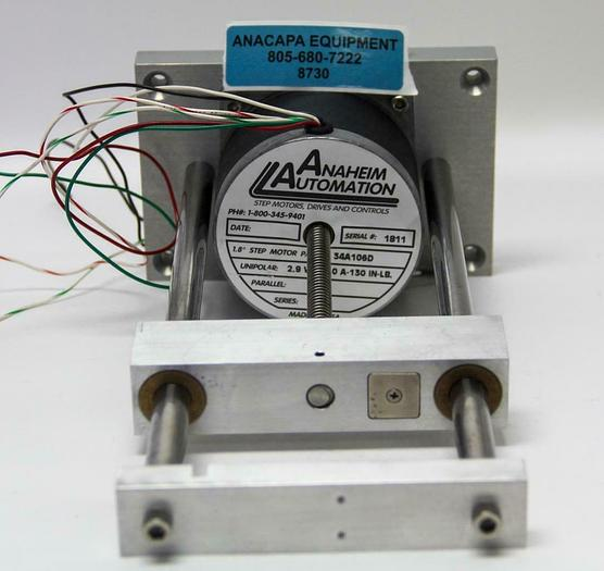 Used Anaheim Automation 34A106D Hybrid Linear Actuator, 2.9 VDC-3.0 A-130 (8730)W