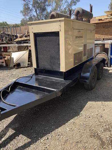 Used 1995 Generac Natrual Gas / Propane 65Kw Mobile