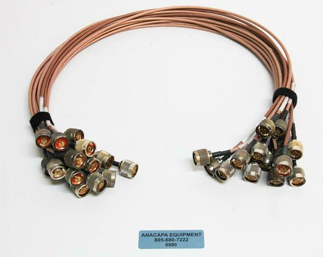 Used Belden 3' 83242 M17/158-00001 MIL-DTL-17 12814 Cable w/ Male Connectors LOT 6990