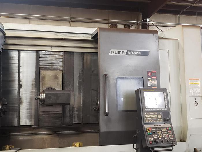 2015 DOOSAN  PUMA SMX 3100S TURNING CENTER with Sub Spindle combine with a Vertical Machining Center in one platform featuring ATC