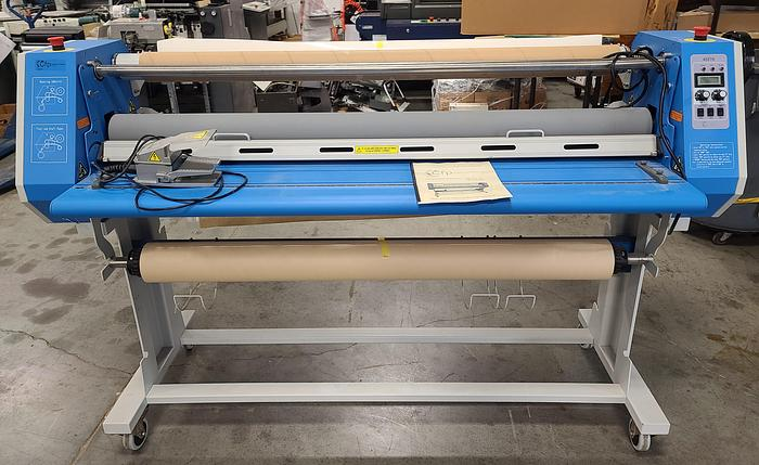 """Used GFP 455TH 55"""" Top Hea Laminator w/Stand"""