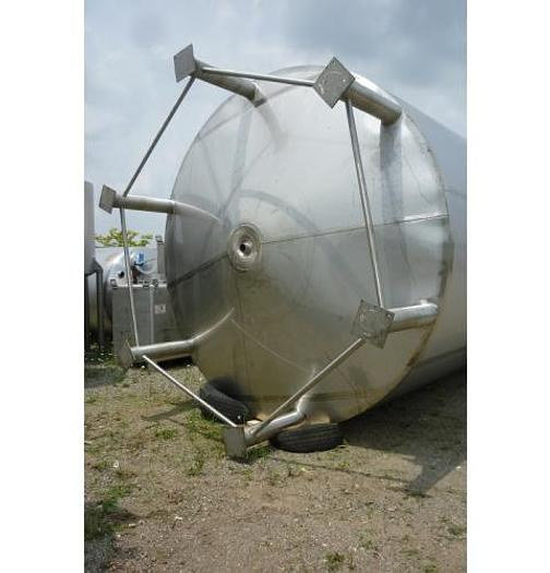 USED 15 000 GALLON JACKETED TANK, STAINLESS STEEL, SANITARY