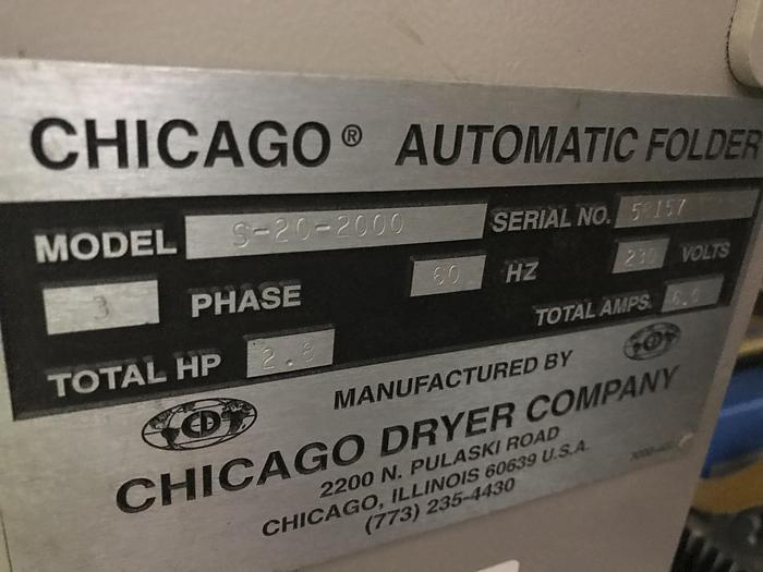 """2011 CHICAGO FOLDER, 136"""", 5 LANE WITH ACCUMULATOR AND STACKER"""