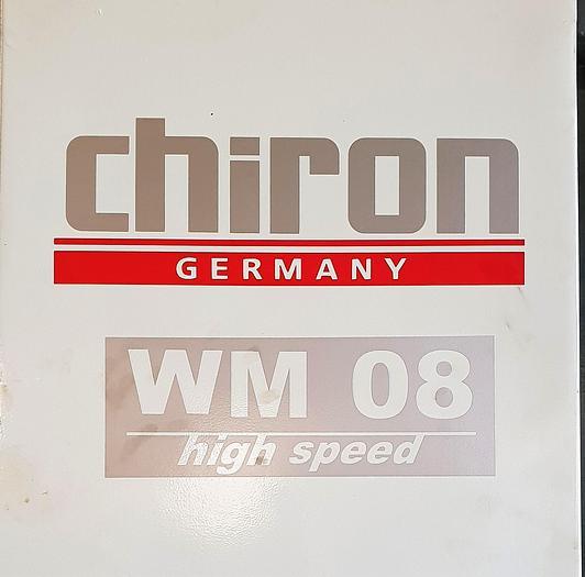 CHIRON WM08 HIGH SPEED VERTICAL MACHINING CENTERS