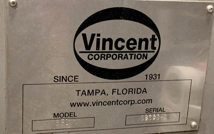 USED VINCENT PRESS, STAINLESS STEEL, SANITARY
