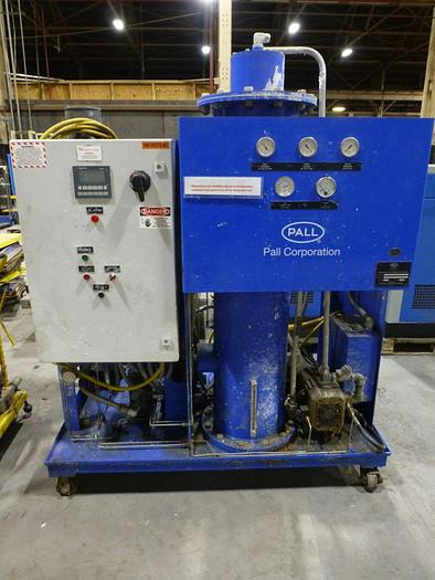 Used PALL LUBRICATION AND HYDRAULIC OIL PURIFIER