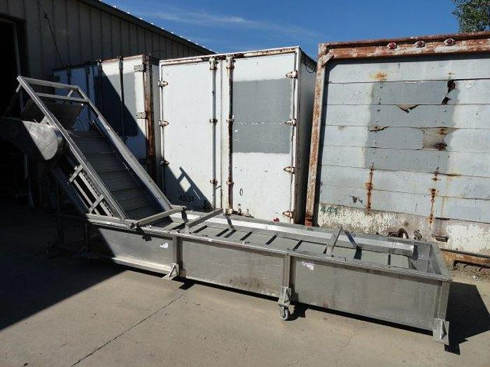 Used Lyco Rinser/Quenching Tank w/Incline Conveyor
