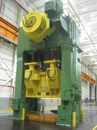 Used 800 ton / 500 ton Danly Double Action Stamping Press