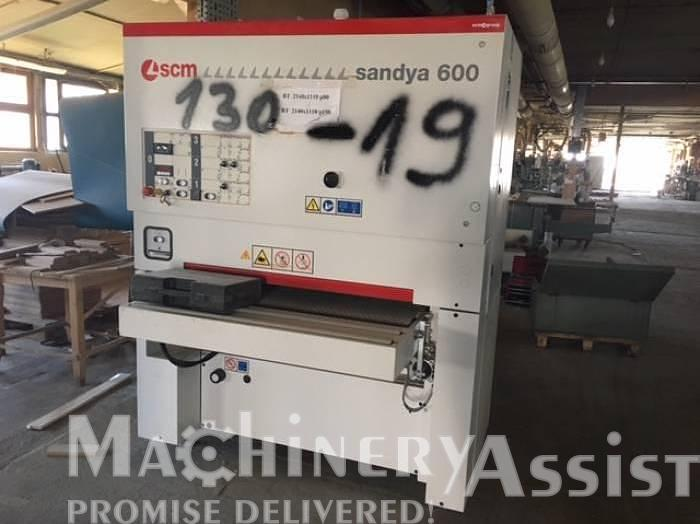 Used SANDYA 600 SCM Calibrating-Finish sanding machine