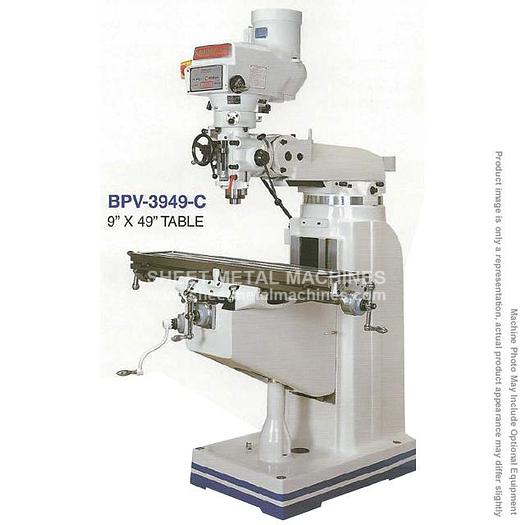 BIRMINGHAM Variable Speed Vertical Knee Mill 3PH, 220V with Special Tool Package BPV-3949-C