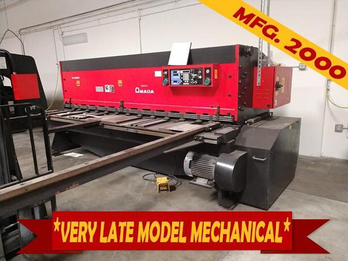 """Used 1/4"""" x 10' Amada M-3060 Mechanical Squaring Shear"""