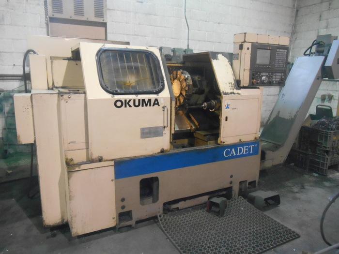 1996 OKUMA Cadet LNC-8 CNC 2-Axis Turning Center with IGF