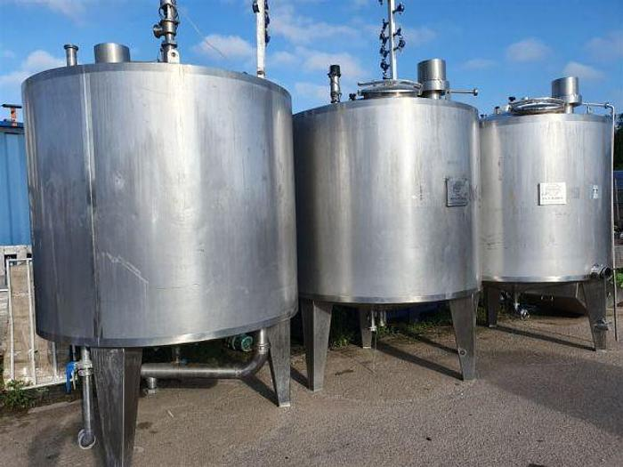 Used 3,000 Litre Stainless Steel Insulated Tanks
