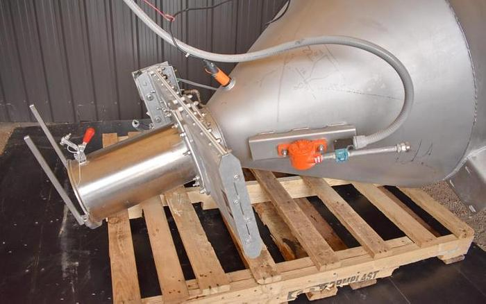 USED FLEXICON PNEUMATIC CONVEYING SYSTEM WITH TUTHILL BLOWER & FLEXICON HOPPER