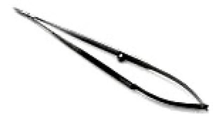 Scissor Micro Spring Type Straight Blades 190mm (7-1/2in) MEDICON