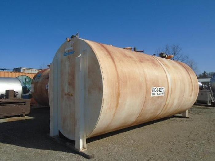 Used USED 12 000 GALLON TANK, CARBON STEEL, ULC VAC-U-TEST DOUBLE WALL, HORIZONTAL