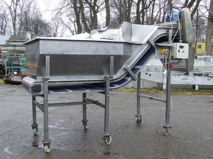 Używane Bunkier z modułowym przenośnikiem progowym - 1.000 mm