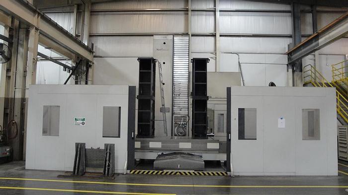 "Used 2008 6"" Giddings & Lewis CNC Horizontal Boring Mill, Model PT 1800, Table 71"" X 141"", X Travel 141"", Y Travel 102"", 75 HP, 3500 RPM Spindle, Mitsubishi CNC"