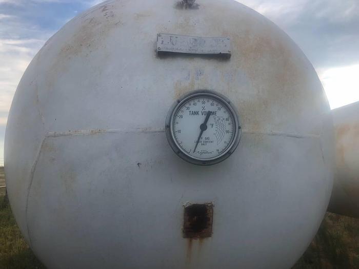 12,000 and 8,000 gallon propane tanks