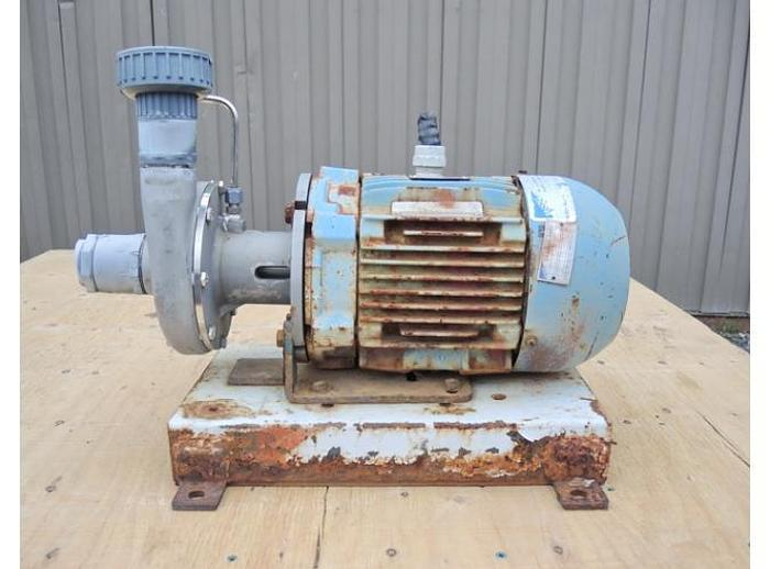"Used USED CENTRIFUGAL PUMP, 1.5"" X 1"" INLET & OUTLET, CAST STAINLESS"