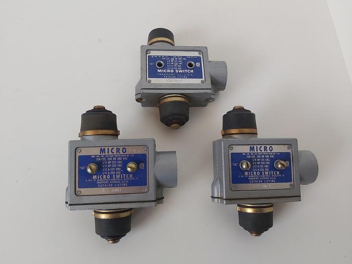Gebraucht 3 Micro Switch, Endschalter, BZE RNX1, Honeywell,  gebraucht