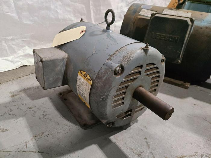 """Used 10 HP Baldor Electric Motor 1725 RPM - 215T Frame 1-3/8"""" Shaft 200v 3 Phase"""