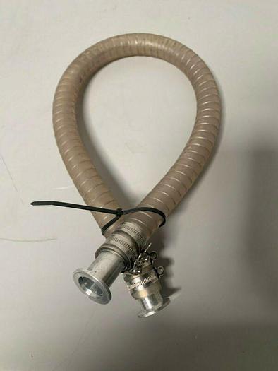 "Used 38"" x 1.5"" Vacuum Hose w/ Stainless Steel KF-25 Fittings"