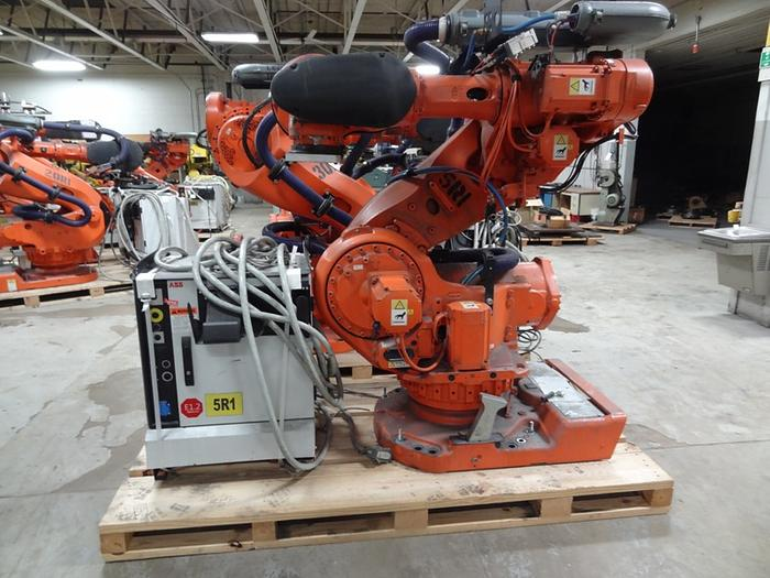Used ABB IRB 7600 6 AXIS CNC ROBOT 500KG X 2.55 REACH WITH IRC5