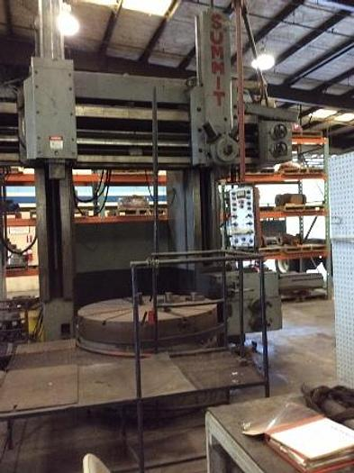 "Used 1976 Summit VBM | 59"" 4 Jaw Chuck, 70"" Swing, 47""UR, Ram, Turret & Side Heads"