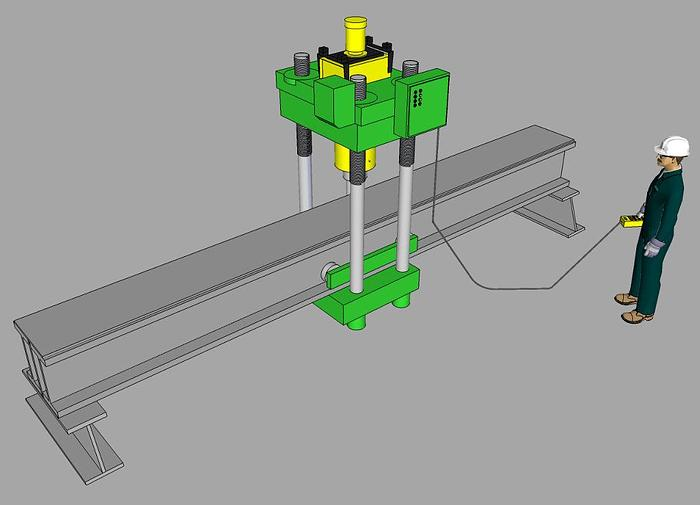 Used 500 Ton Rutil Hydraulic Straightening Press