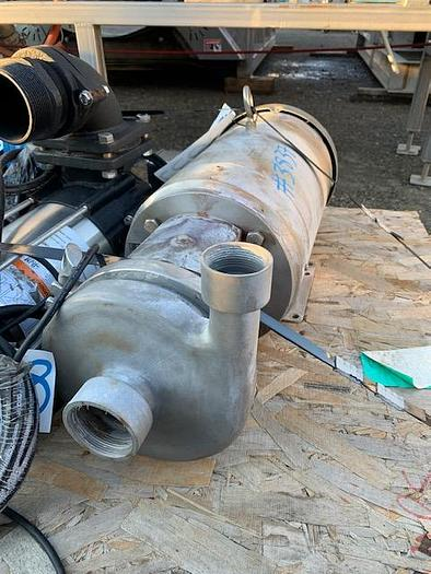 """Used 2 1/2"""" x 2"""" 10 Hp Stainless Steel Centrifugal Pump"""