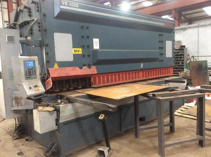 Used Durma VS4020 NC Controlled Hydraulic Guillotine Shears