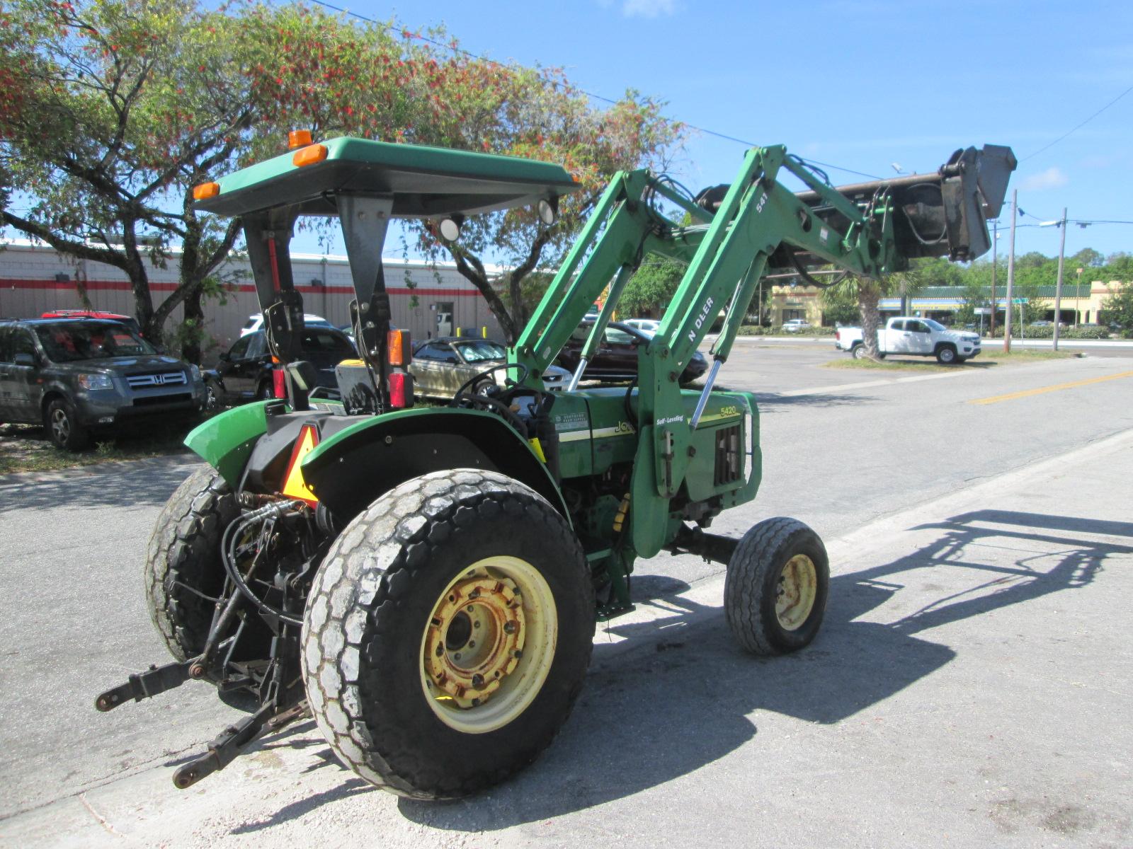 2003 John Deere 5420 Tractor With Loader