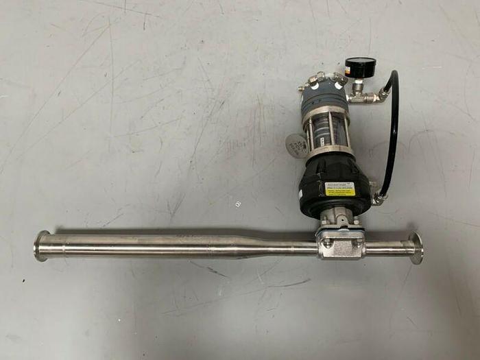 "Used ITT Pure-Flo 1"" A209 w/ Siemens 73N-B Pneumatic Valve Positioner & Gauge"