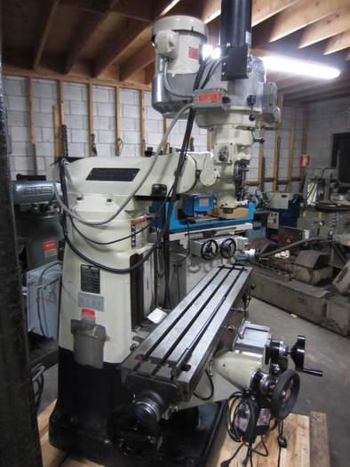 "9"" x 48"" Bridgeport Vertical Turret Milling Machine 5608"