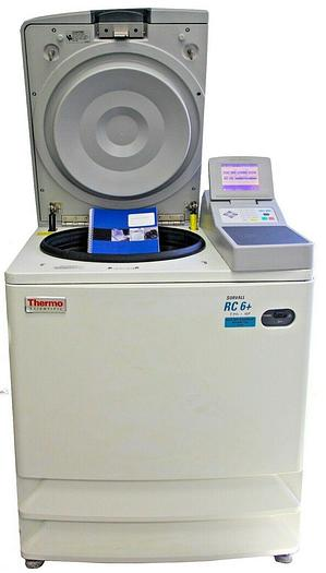 Used Thermo Scientific Sorvall RC-6 Plus Centrifuge W/ SLA-1500 FixedAngle Rotor 8106