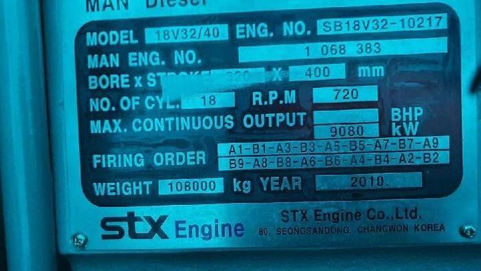 MAN STX 18V32/40 HFO / Diesel Unused generator set.