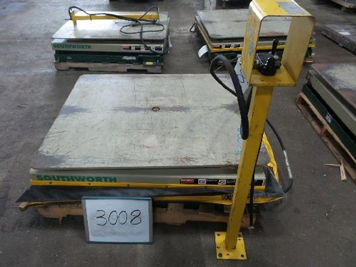 Used Southworth Model LS Pallet Lift Table