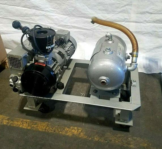 Used 2007 Busch RA025 Vacuum Pump Vacume with Receiver Tank Runs Perfectly