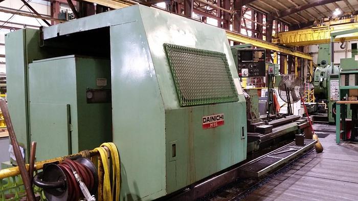 """Used 11985 Dianichi CNC lathe, Model M95, Swing 39"""", 22"""" SOC, 119"""" B/C,1200 rpm, 50 hp, Fanuc CNC"""