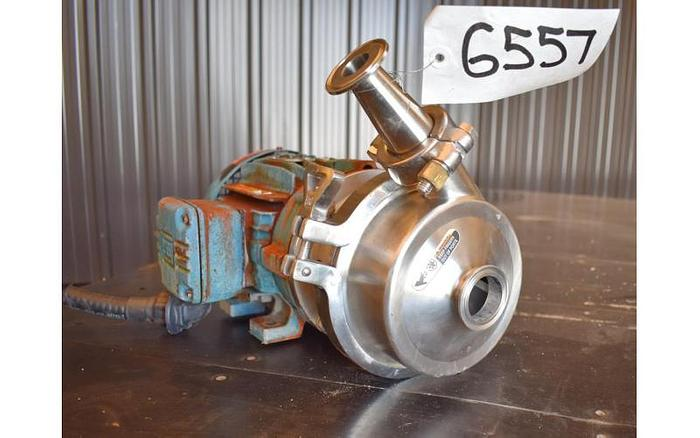 """USED WAUKESHA CENTRIFUGAL PUMP, 1.5"""" X 1.5"""" INLET & OUTLET, STAINLESS STEEL"""