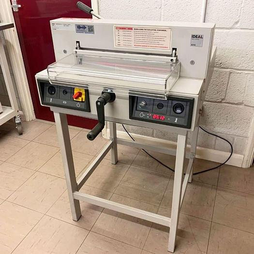 Used Pre-owned IDEAL 4315 Guillotine Cutter With Stand - 4040359-2011