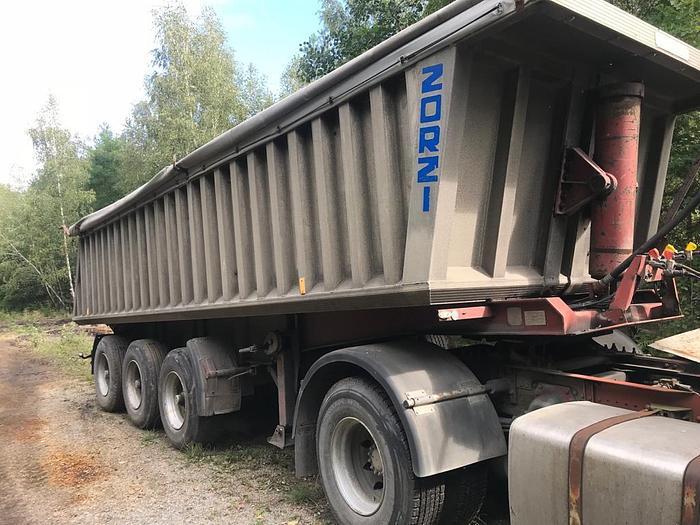 Used 1991 HANGLER FRUEHAUF Typer trailer full ALUMINIUM typer with steel CHASSIS