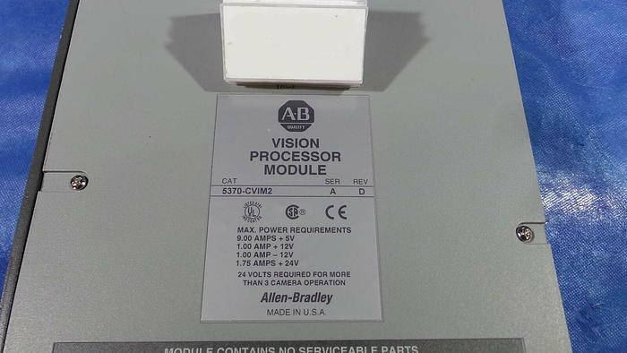 Used Allen Bradley 5370-CViM2 Vision Processor Module, 5370-CVIM2 / Ser A / Rev D / Allen-Bradley