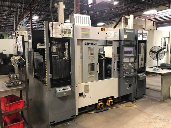 2012 OKUMA 2SP-150H TWIN SPINDLE, TWIN TURRET GANTRY LOADED CNC LATHE
