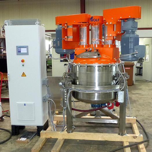 Gebraucht Dreiwellen-Universalmischer WOLF/HUBBES Type MA-250 mit ca. 250 Liter Nutzinhalt.