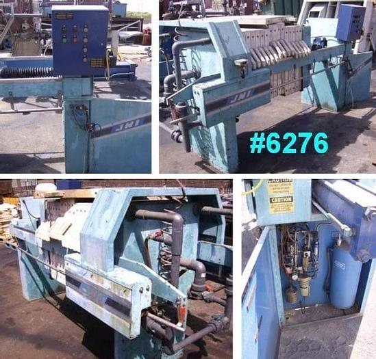 Used 8 CU. FT. JWI FILTER PRESS – POLYPRO. – 800 MM – C.G.R. – PLATE SHIFTER