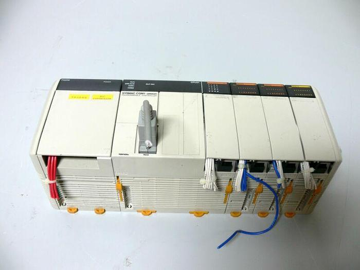 Used Omron SYSMAC CQM1, OMRON PA206 PLC SYSTEM, PA206, CPU21, och, ID212 (2x), OD212
